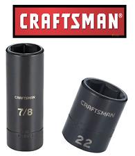 "NEW Craftsman 1/2"" & 3/8"" Drive Impact Socket Deep/Shallow 6pt SAE/MM Choose"