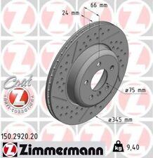 2x ZIMMERMANN Bremsscheibe Bremsscheiben Satz Bremsen COAT Z Hinten 150.2920.20