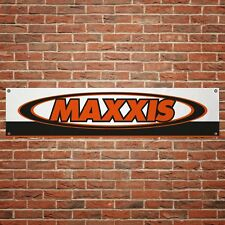 Maxxis Tyres Banner Garage Workshop PVC Sign Trackside Mechanics Display