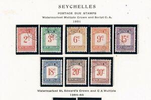 Seychelles 1951 Postage Dues - Complete USED Set - SC J1-J8 [SG D1-D8] USED 21 R