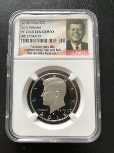 2018- S  50C CLAD EARLY RELEASES NGC- PR-70UC RARE