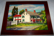 American Impressionist Oil Landscape Painting OLD HOUSE Country Farm Folk Art