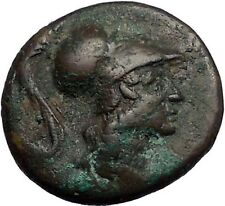Thebes in BOEOTIA 3rd LEAGUE 287BC Athena Trophy Ancient Greek Coin i56251