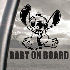 Lilo and Stich alien Baby on Board bumper, car, window, ipad or laptop sticker