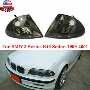 Pair Turn Signal Indicator Corner Lights For 1999-2001 BMW 3 Series E46 Sedan