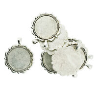 Silvertone CARNIVALE 40mm x 30mm CAMEO Costume PENDANTS Frames Settings 4 Ant