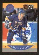 Gordie Roberts signed autograph 1990-91 Pro Set Card