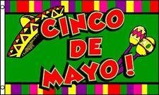 Cinco de Mayo Flag 3x5 ft May Fifth 5 Battle of Puebla Mexico Holiday Decoration