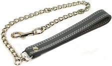 """50 Shades Of Grey Chain Leash 24"""" Shades of Grey Genuine Leather  """"NEW"""""""