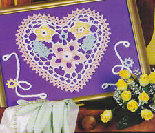 Crochet Pattern ~ Floral Heart Picture ~ Instructions