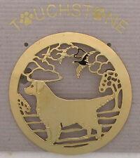 Golden Retriever Jewelry Gold Scene Pin