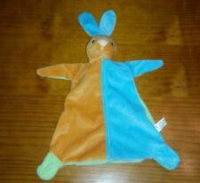 DOUDOU LAPIN TOI-TOYS vert bleu orange