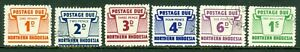 SG D5-D10 Northern Rhodesia 1963 postage dues set of 6. Very fine used CAT £80