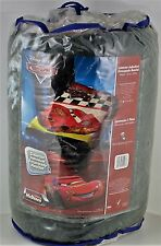 "Disney Cars throw blanket micro raschel plush Twin 60"" x 80"" McQueen Lightning"