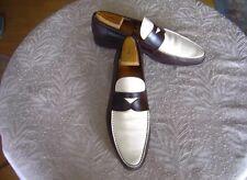 Prada Schuhe Platinium Luxus Gr 42,5(8,5) Mokassin Penny Loafer