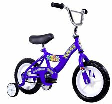 "Kids 12"" Bicycle Bike w/ Training Wheels Blue Includes Pokemon Stickers NEW"