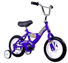 """Kids 12"""" Bicycle Bike w/ Training Wheels Blue Includes Pokemon Stickers NEW"""