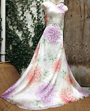 BNWT Absolutely Gorgeous MONSOON Dahalia: pastel bloom embellished dress sz 14