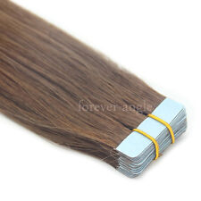 Super Seamless Tape in Skin Weft PU Straight Remy Human Hair Extensions USA Ship
