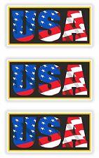 USA American PATRIOT 3x Adesivi Bandiera degli Stati Uniti con le lettere Locker CASCO