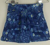 Lands End Girls Sz 8 Corduroy Skirt Blue Adjustable Waist Attached Shorts Skort