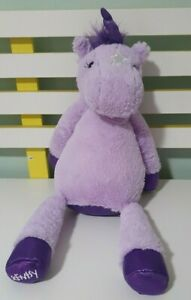 VEGA THE UNICORN SCENTSY UNICORN PURPLE WITH NAPPY TIME PACK 45CM INC HORN