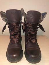 RARE Dr. Martens Women's Aimilie Oxblood Elk Union Jack 9-Eye Boots US 8.