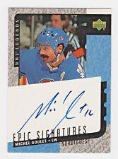 2000-01 Upper Deck Legends Epic Signatures Michel Goulet Quebec Nordiques HOF