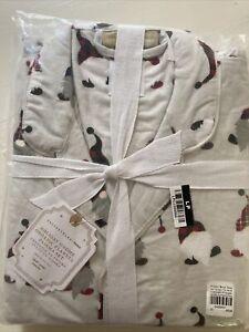 Pottery Barn Teen  Gnome  Flannel Pajamas  Christmas Holiday  Large