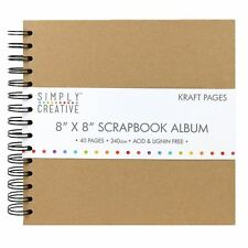 "Simply Creative Scrapbook Memory Photo Kraft Brown Album - Plain (8x8"")"