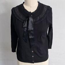 Cynthia Steffe Black Bow Cardigan Sweater Womens Size XS
