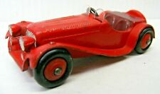 DINKY TOY #38F  RED JAGUAR SS100 SPORTS CAR MADE IN ENGLAND 1946