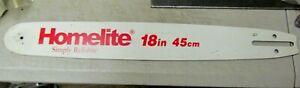 "New Old Stock Genuine Homelite 18"" Bar 9043 / ST18321MA .325 X .050"