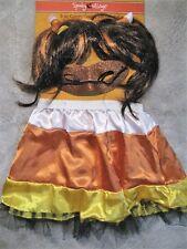 """NEW Girls 3 Piece Candy Corn Halloween Costume;  Waist 21""""-28"""""""