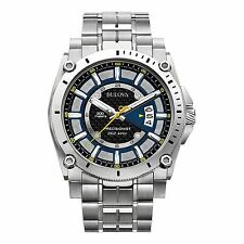 Bulova 96B131 Men's Precisionist Silver-Tone Quartz Watch