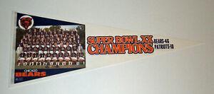 1985 Chicago Bears Super Bowl XX Champs PHOTO pennant Walter Payton McMahon