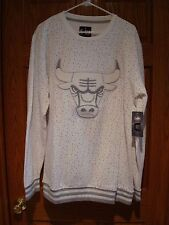 Chicago Bulls NBA STITCHED Logo Athletic Crewneck Sweatshirt Spalding White 2XL
