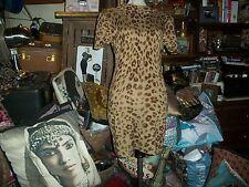 DIANE VON FURSTENBERG Wild Animal Print Cashmere Dress Size M