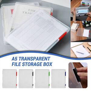 A5 Transparent Storage Box Clear Plastic Document Paper Filling Case File Box