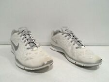 Nike Free TR FIT 3 Women's Shoes Size 9 White Gray Running Athletic 555158-101