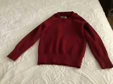 Red/Maroon School Jumper Size 8 (80% Wool)