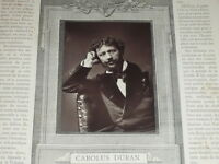 [Vintage Photoglyptie] Carolus Duran por Anónima Galeria Contemporáneo 1878