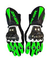 Kawasaki Ninja MotoGp Motorcycle Racing Leather Gloves ZX10R