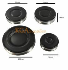 UNIVERSAL Cooker Oven Gas Hob Burner & Flame Cap Crown Small Medium Large Black