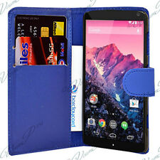 Accessoires Housse etui coque pochette portefeuille BLEU FONCE Google Nexus 5