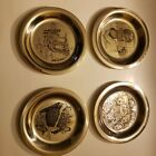 Norman+Rockwell+1972%2F73%2F74%2F75+Franklin+Mint+Sterling+Silver+Plates+Four