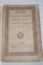 LETTRE DE STANISLAS GIRARDIN SUR MORT DE ROUSSEAU REPONSE MUSSET PATHAY 1825