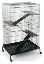 "Prevue Jumbo Ferret Small Animal Cage 48""H with 3 Ramps, Platforms, Wheels"