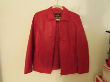 Reed Red Leather Sportswear Jacket Size Small