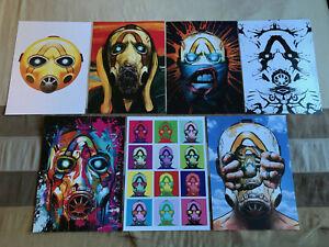 Borderlands 3 Psycho Art Posters Set PAX West 2019 Gearbox Software